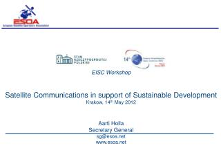 EISC Workshop Satellite Communications in support of Sustainable Development
