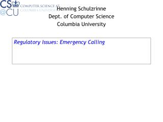 Regulatory Issues: Emergency Calling