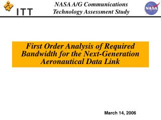 First Order Analysis of Required Bandwidth for the Next-Generation Aeronautical Data Link