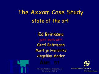 The Axxom Case Study state of the art