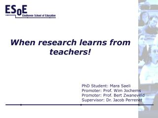 When research learns from teachers!