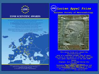 Lucien Appel Prize European Society of Neuroradiology