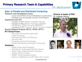 Primary Research Team & Capabilities