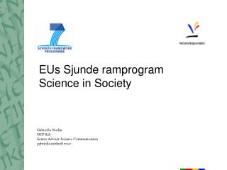 EUs Sjunde ramprogram Science in Society