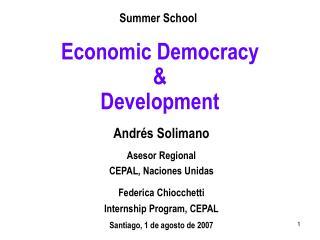 Economic Democracy  &  Development