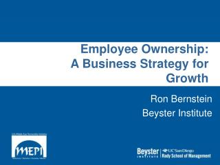 Employee Ownership: A Business Strategy for Growth