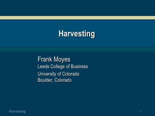 Harvesting
