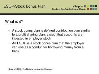 employee stock ownership plan (esop) ppt
