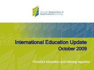 International Education Update October 2009