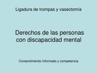 Derechos de las personas con discapacidad mental