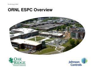 ORNL ESPC Overview
