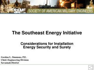 The Southeast Energy Initiative