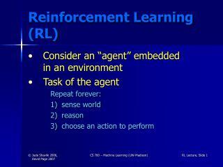 Reinforcement Learning RL