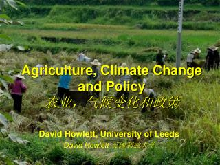 Agriculture, Climate Change and Policy 农业,气候变化和政策