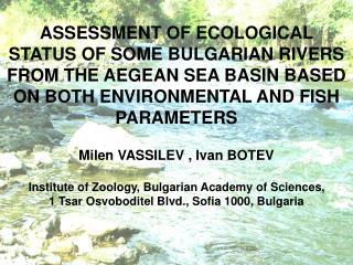 Struma River Basin 8 sites .