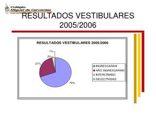 RESULTADOS VESTIBULARES 2005/2006
