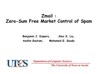 Zmail :  Zero-Sum Free Market Control of Spam