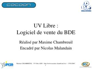 UV Libre :  Logiciel de vente du BDE