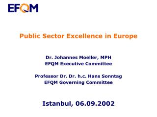 Public Sector Excellence in Europe