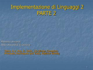 Implementazione di Linguaggi 2 PARTE 2