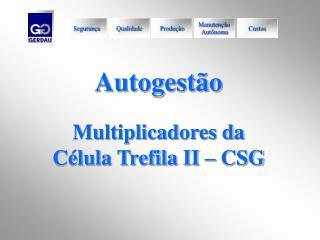 Autogestão Multiplicadores da  Célula Trefila II – CSG