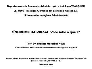 Departamento de Economia, Administração e Sociologia/ESALQ-USP