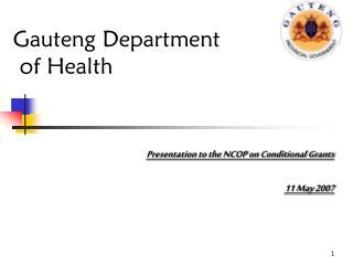 Gauteng Department  of Health