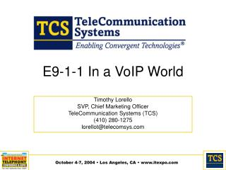 E9-1-1 In a VoIP World