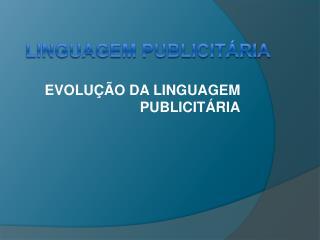 Linguagem Publicitária