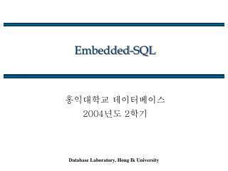 Embedded-SQL