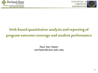 Web-based quantitative analysis and reporting of program outcome coverage and student performance