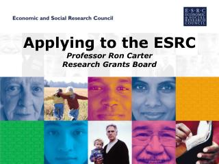 Applying to the ESRC Professor Ron Carter Research Grants Board