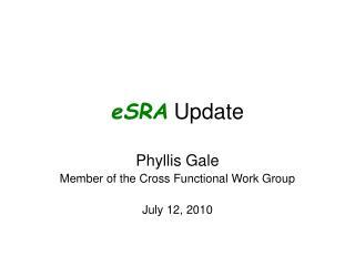 eSRA  Update