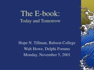 The E-book: