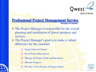 "Professional Project Management Service ""Bringing It All Together"""