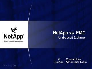 NetApp vs. EMC for Microsoft Exchange