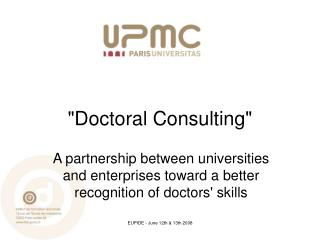 """""""Doctoral Consulting"""""""
