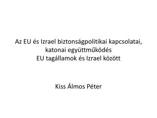 Kiss Álmos Péter