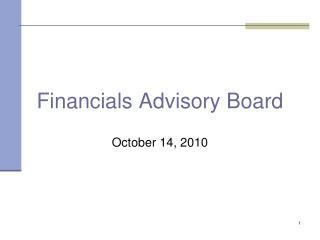 Financials Advisory Board
