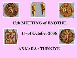 1 2t h MEETING of ENOTHE 13-14  October 2006 ANKARA / TÜRKİYE