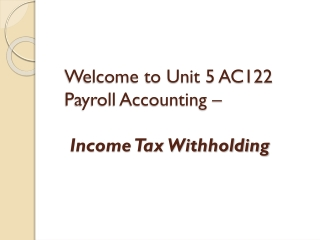 Payroll Accounting 2011 Bernard J. Bieg and Judith A. Toland