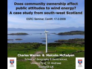 Does community ownership affect  public attitudes to wind energy?