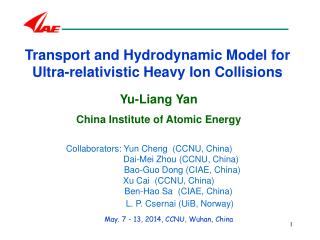 Transport and Hydro d ynamic Model for Ultra-relativistic Heavy Ion Collisions