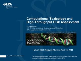 Computational Toxicology and High-Throughput Risk Assessment