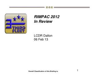RIMPAC 2012  In Review LCDR Dalton 06 Feb 13