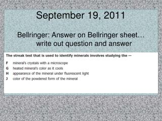 September 19, 2011