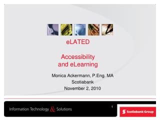eLATED Accessibility and eLearning