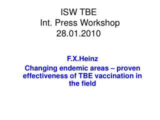 ISW TBE  Int. Press Workshop 28.01.2010
