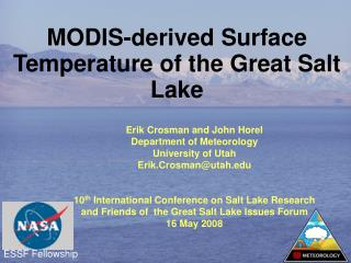 MODIS-derived Surface Temperature of the Great Salt Lake