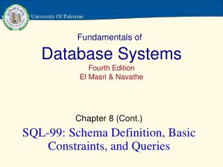 Fundamentals of Database Systems Fourth Edition El Masri & Navathe